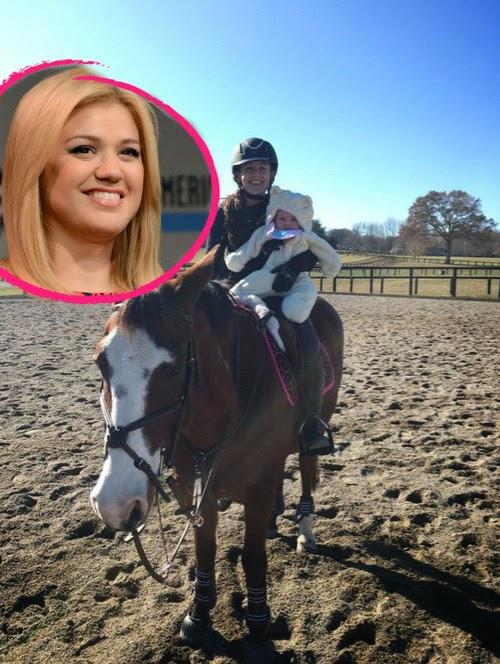 Gee-gee! Kelly Clarkson daughters all on horseback | Sweet memories for album