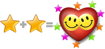 Put two stars together and they may find love and an explosion of creativity, followed by success. ren@rt 2011.