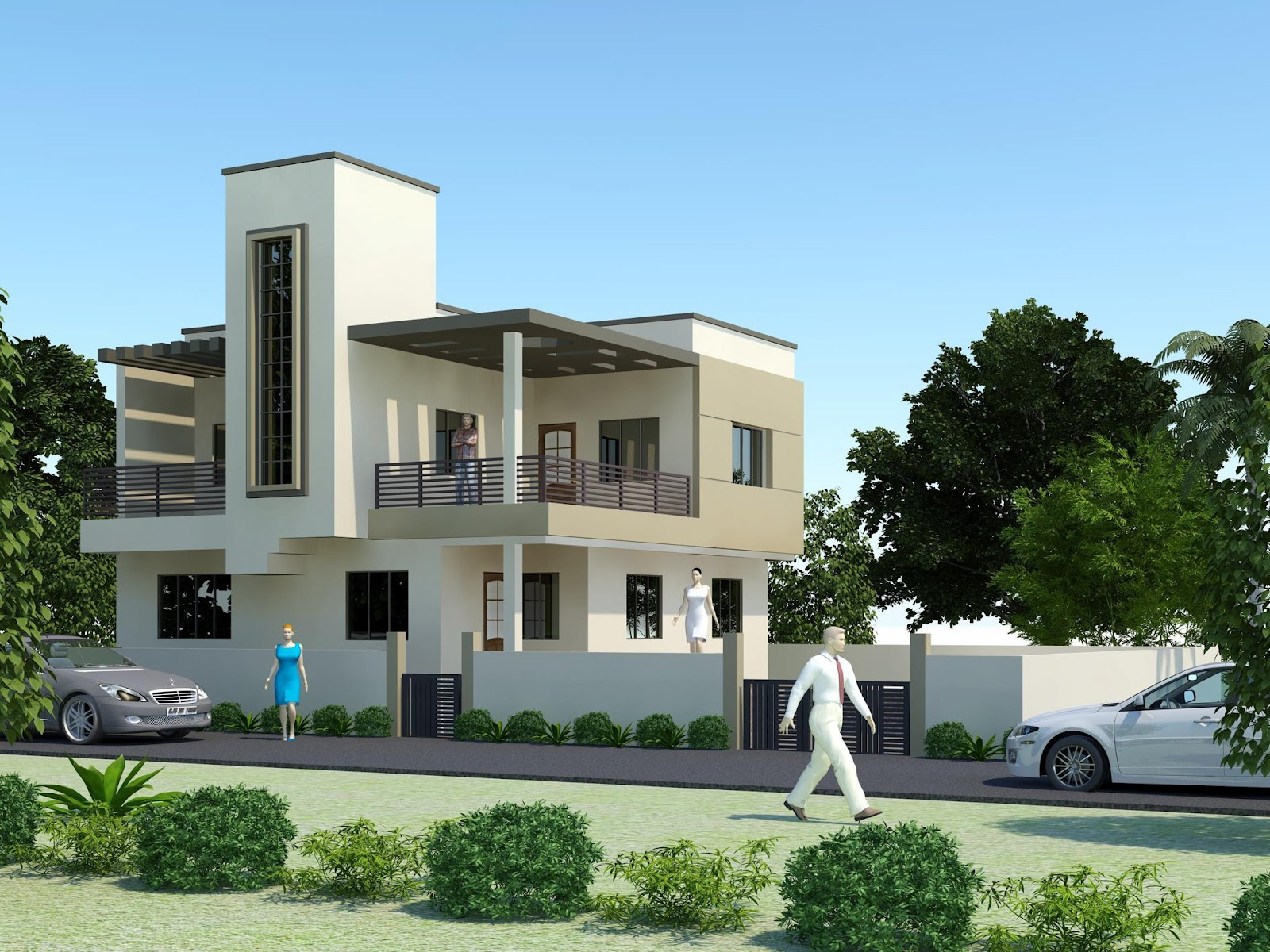 3d front india pakistan house design 3d front elevation - D home design front elevation ...