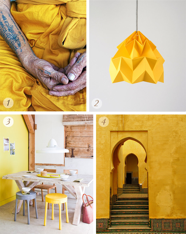 amarillo,yellow,inspiracion,inspiration,budismo,manos,tela,puerta, marruecos,meknes,lampara,lamp,origami,decoracion,decoration,taburete,pared,mesa,madera