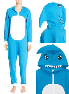 Adult Shark Onesie :: At Least 10 Super Crappy White Elephant Gifts 2015