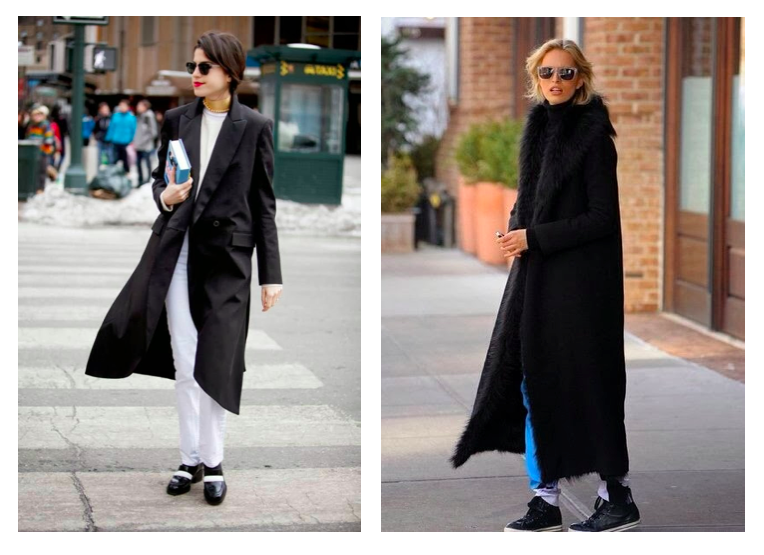 new york fashion week street style long black coat man repeller