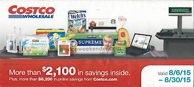 Current Costco Coupon Book August 2015