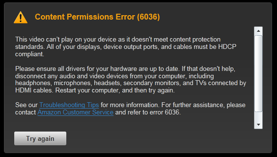 Amazon Instant Video Contents Permission