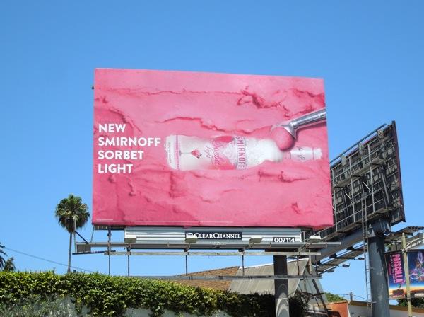 Smirnoff Sorbet Light Vodka billboard