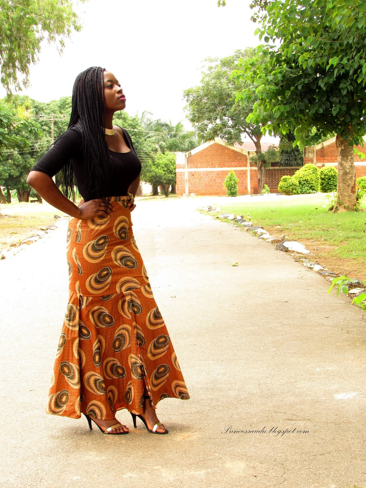 ankara skirt, african prints, how to style, midi-skirts, modern twist