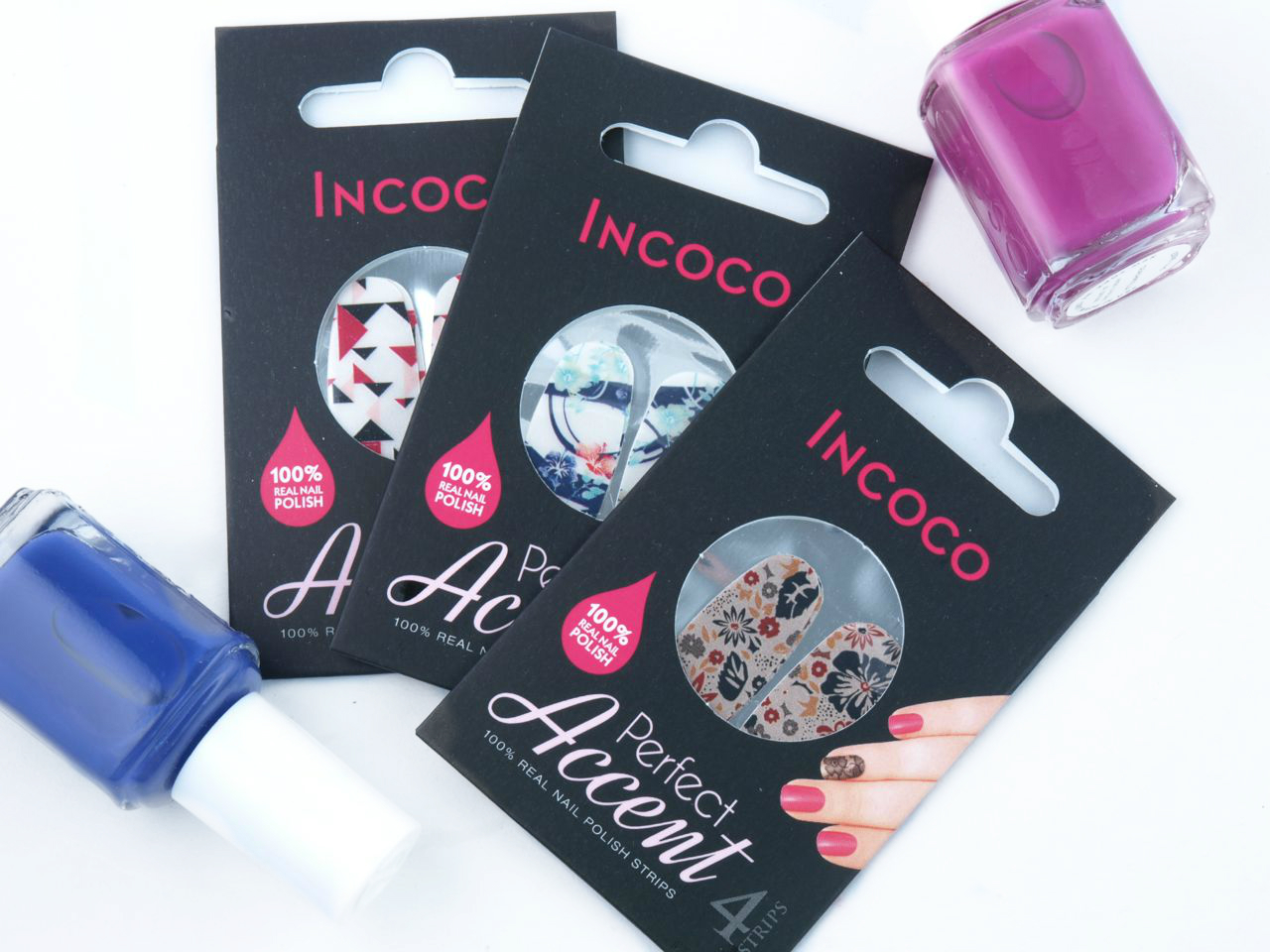 Incoco Perfect Accent Real Nail Polish Strips in \