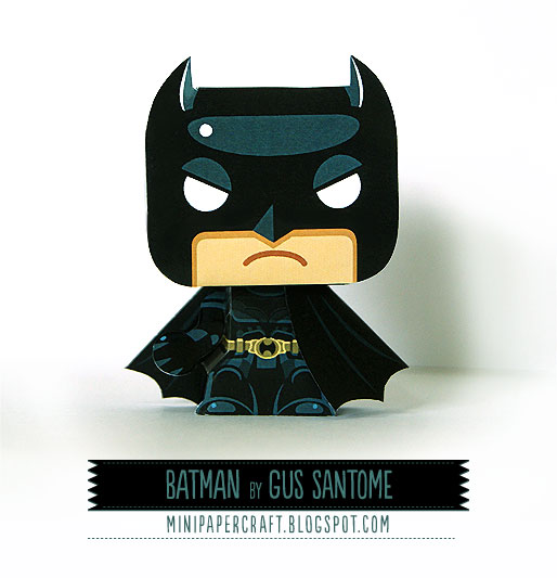 Mini Batman Papercraft