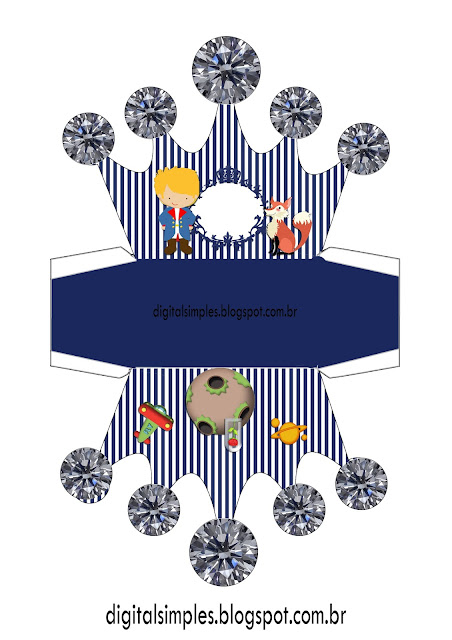 The Little Prince Free Printable Crown Box.