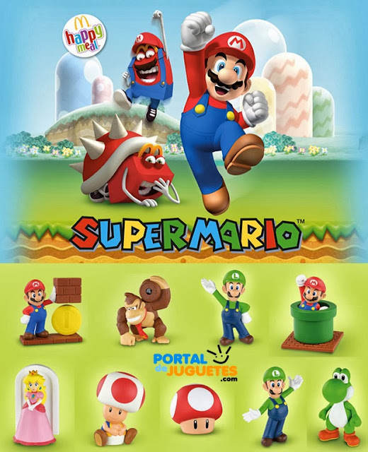 cartel promocional super mario mcdonalds happy meal