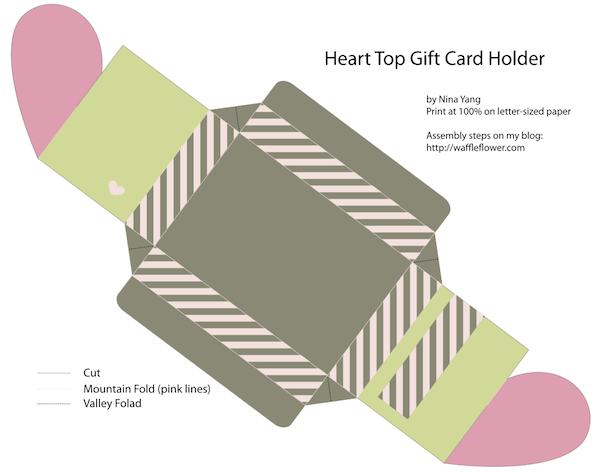molde do cartão presente