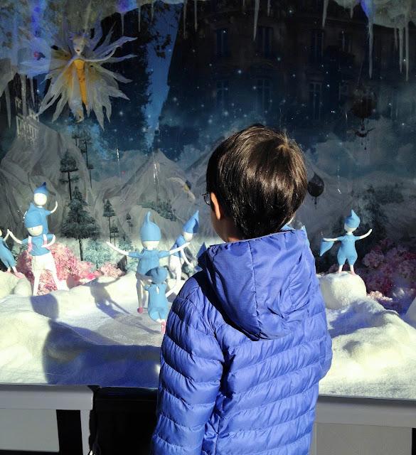 blog maman maitresse instit paris enfants famille vitrines noel grands magasins