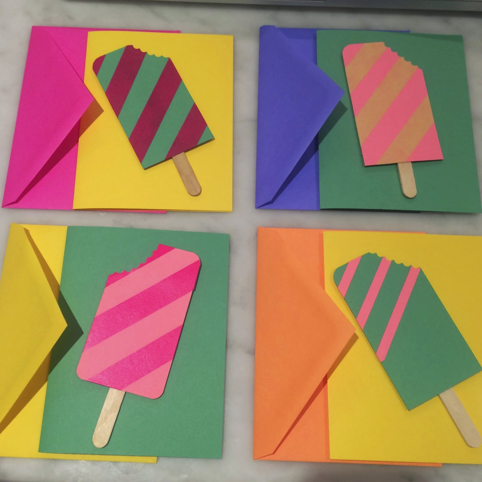 new york city family how to make diy popsicle thank you cards