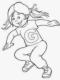 printable alphabet coloring pages girl