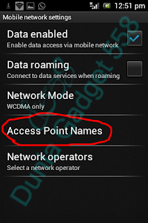 Setting APN Android