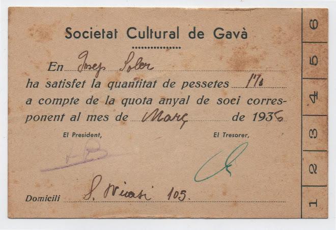 Societat Cultural de Gavà, 1936