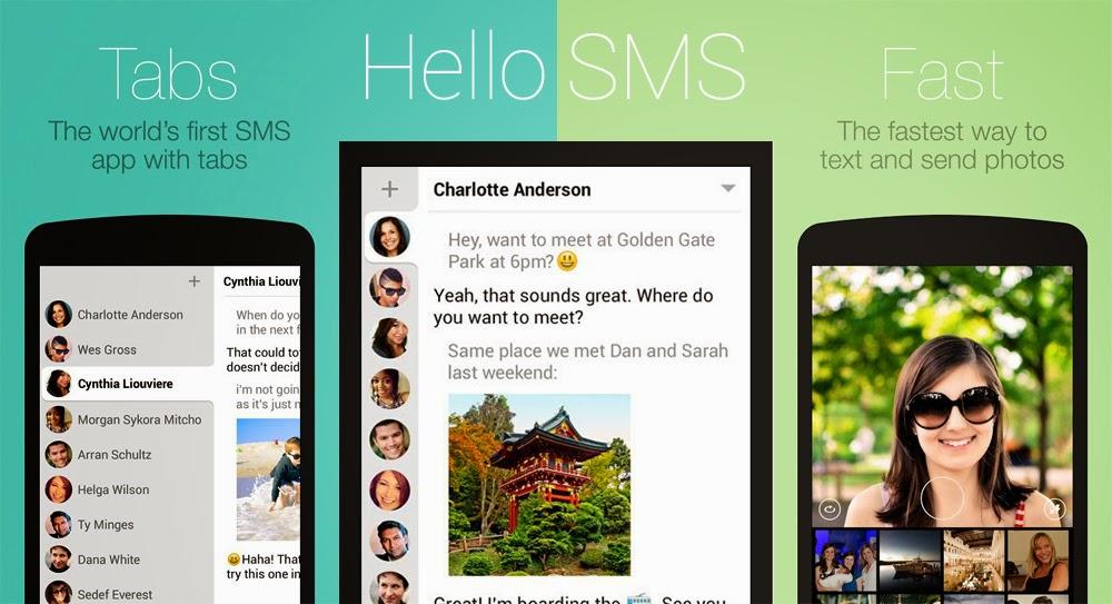Aplikasi SMS Android Terbaik - Hello SMS