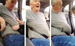 Clint Gets Stuck in Seat Belt