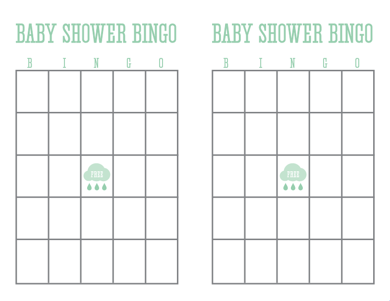 printable baby shower bingo card template car interior design