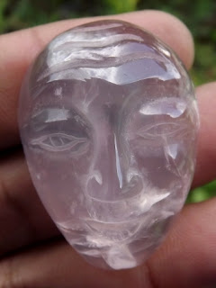 face carving rose quartz