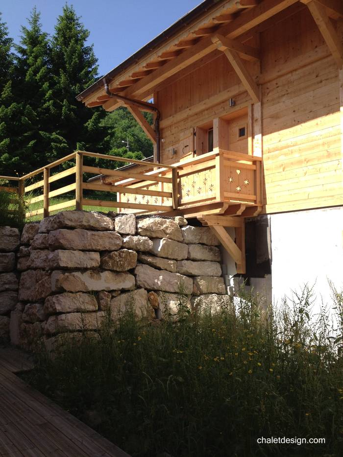 Arquitectura de casas informaci n sobre casas chalet o chal s - Chalet de madera y piedra ...