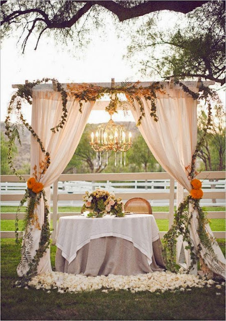 fall themed wedding arch