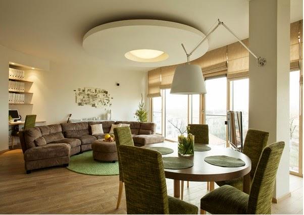 Diff rents traitements de plafond du salon d coration salon d cor de salon - Decoration plafond salon ...