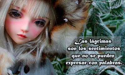 Las lágrimas • Tarjetita para facebook • Múñeca
