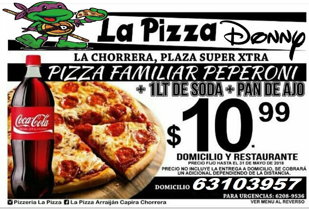 PUBLICIDAD DE CORTESIA LA PIZZA DONNY