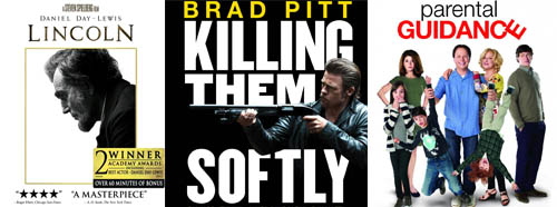 DVD Blu-Ray Lincoln Killing Them Softly Parental Guidance