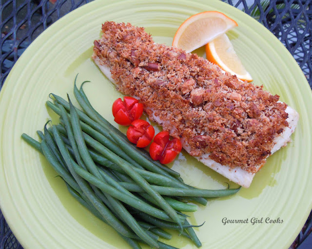 Gourmet Girl Cooks: Almond-Coconut Crusted Mahi Mahi