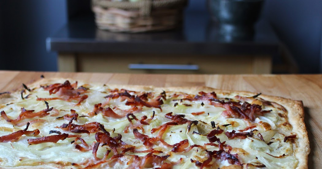 Tarte Flambée with Goats Cheese