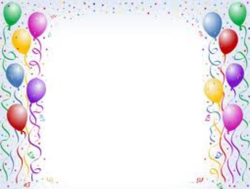 Bordes decorativos para tarjetas de invitación a cumpleaños | A mi ...