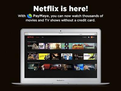 Netflix via PayMaya Visa Card