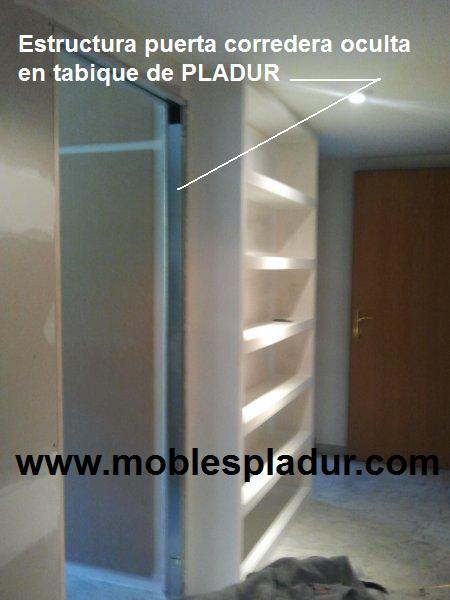 Pladur barcelona puertas correderas - Estanterias con puertas correderas ...