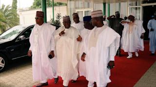 APC governors arrive Daura for meeting with Buhari [PHOTOS]