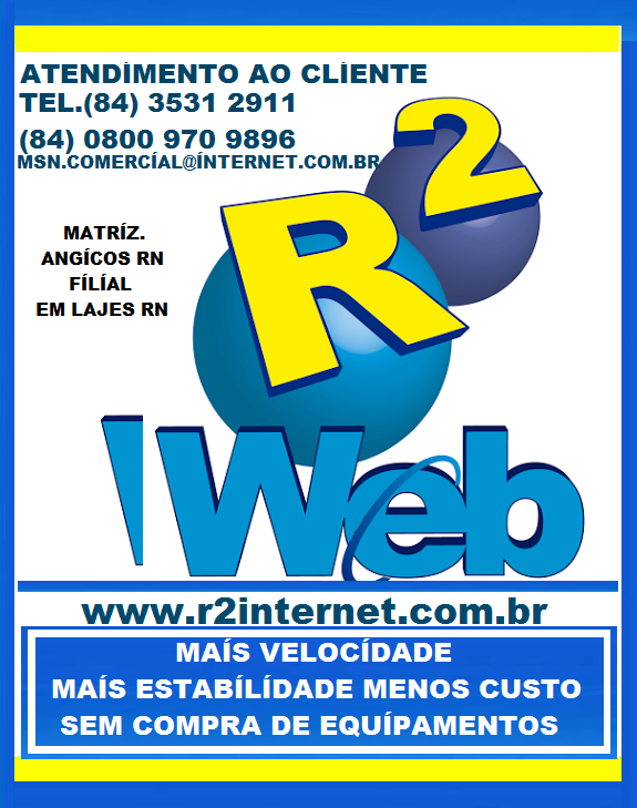 R2 WEB O PROVEDOR DE INTERNET DE LAJES