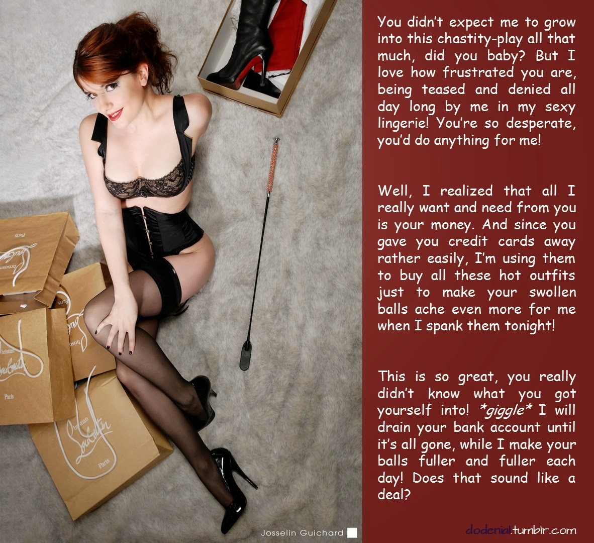 Could femdom chastity financial captions