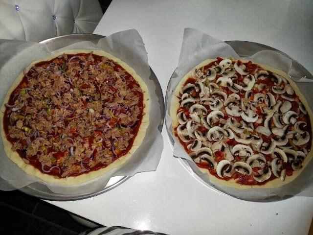 pizza,ton balıklı pizza,sucuklu pizza,karışık pizza,mantarlı pizza
