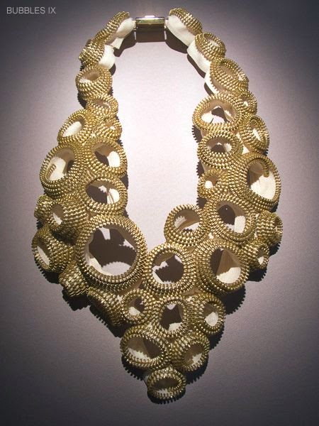 "Kate Cusack zipper art necklace ""Bubbles 1X"""