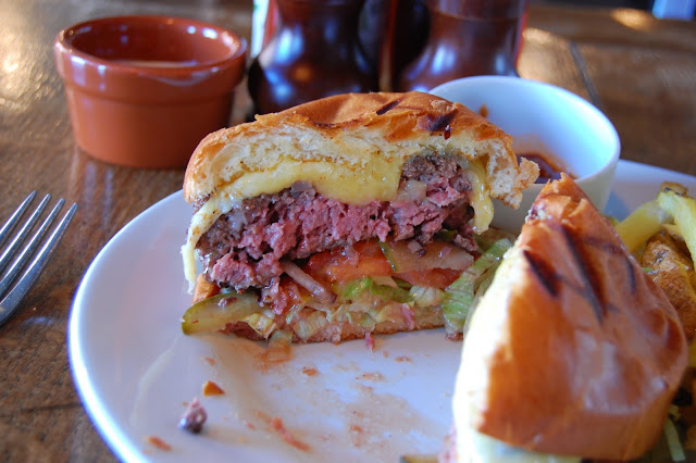 The Fat Cow burger at The Old Red Cow cut-through