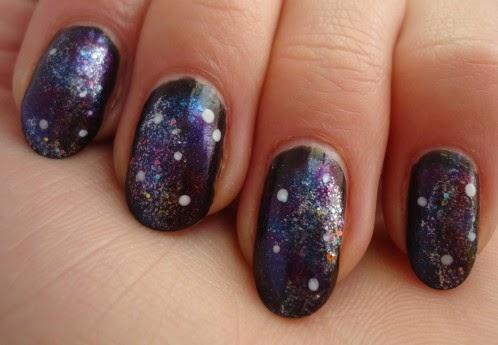 Galaxy Nail * Ma première fois à l'éponge