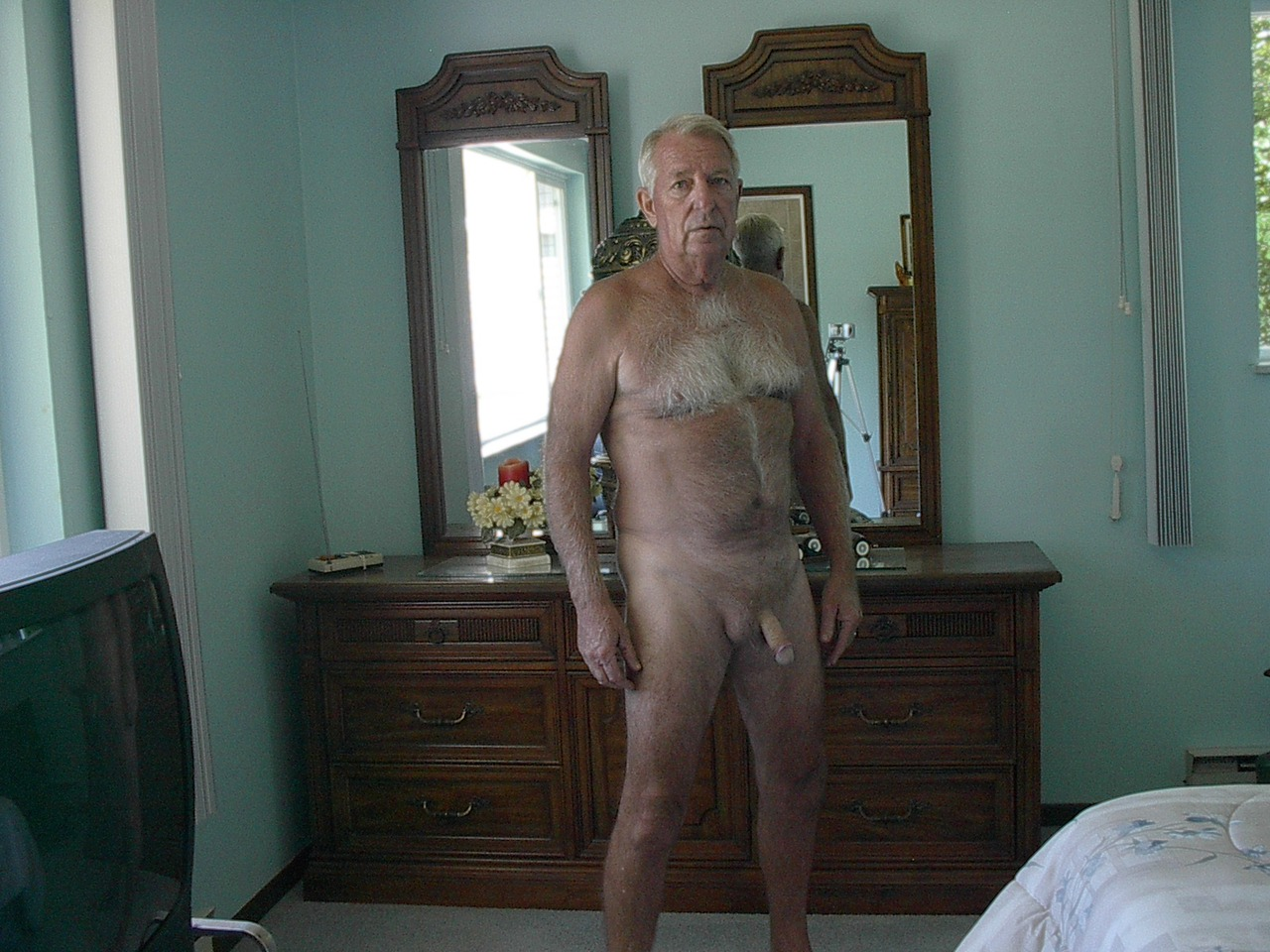 hairy chest naked gay dad
