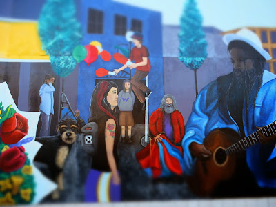 North Ave Mural Scenes