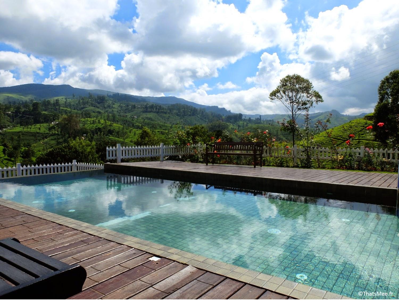 piscine hotel Amaya Langdale Nuwara Eliya Sri-Lanka  au coeur des plantations thé