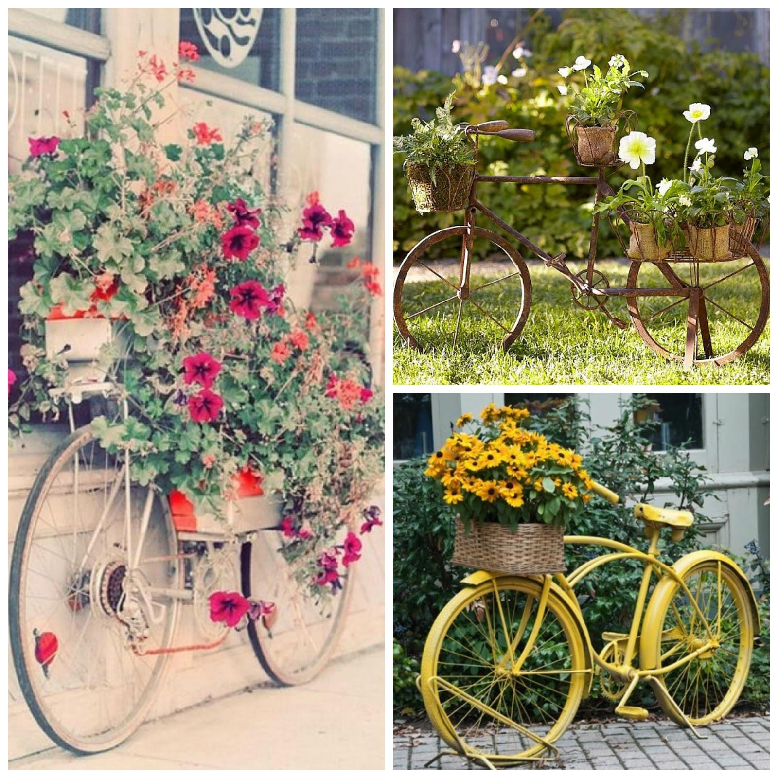 Retro y con encanto las bicicletas son para el verano - Decoracion con ruedas ...