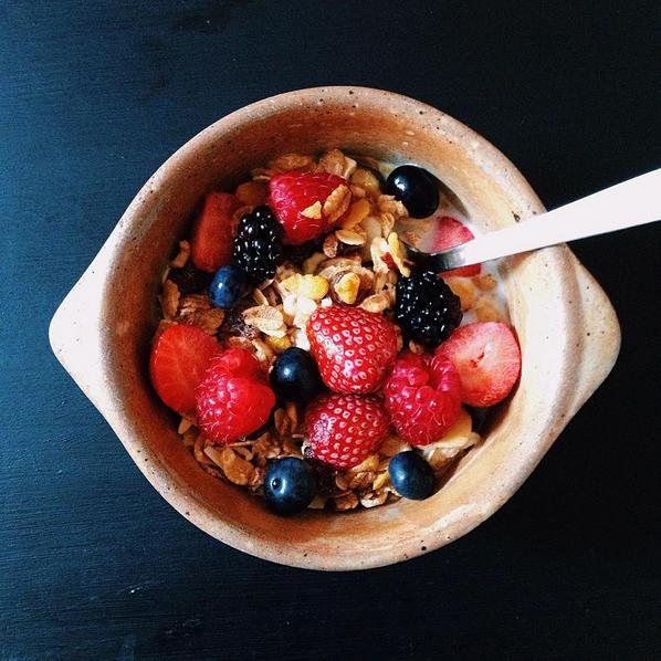 Muesli berries fruits rouges blog