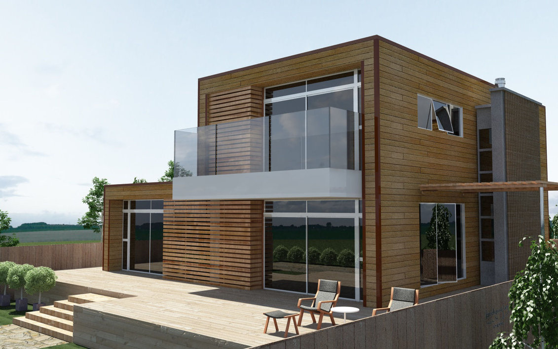 innenarchitektur design: Moderne Holzhaus Design