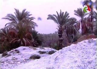 Salju Turun di Gurun Pasir Sahara