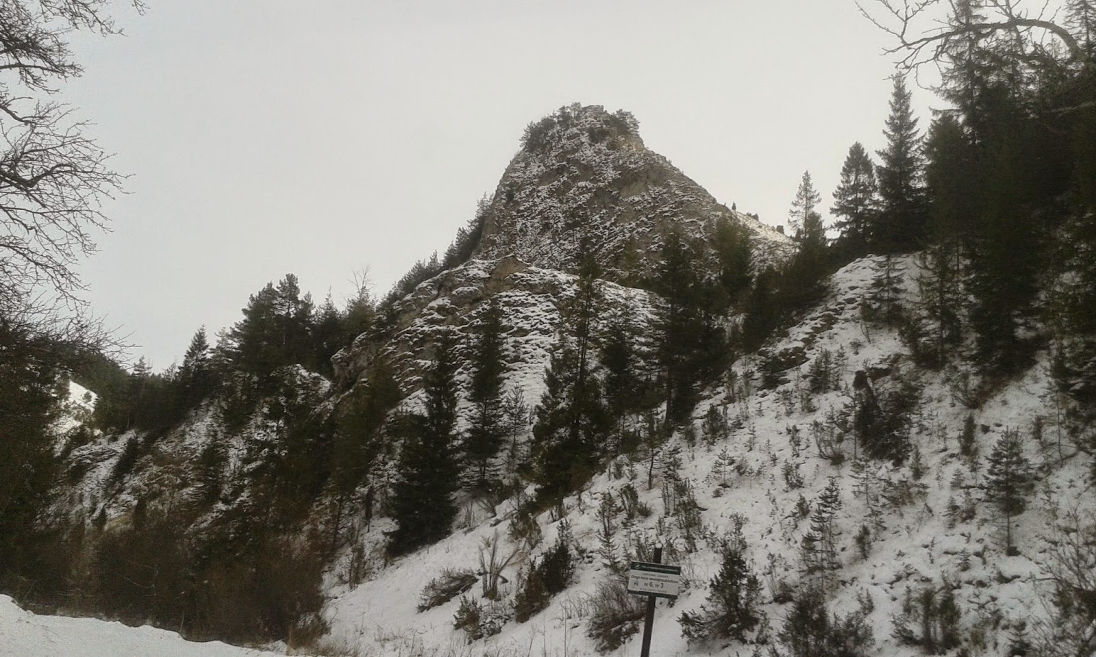rezerwat Biała Woda zimą
